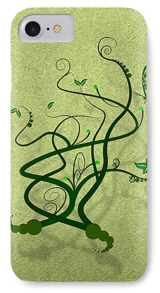 Green Vine And Butterfly IPhone Case