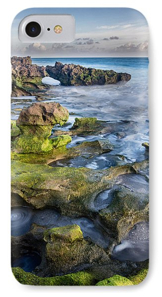 Greenery In Coral Cove IPhone Case