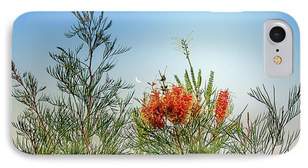 Grevillea With Moon IPhone Case