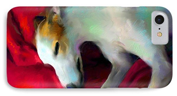 Greyhound Dog Portrait  IPhone Case