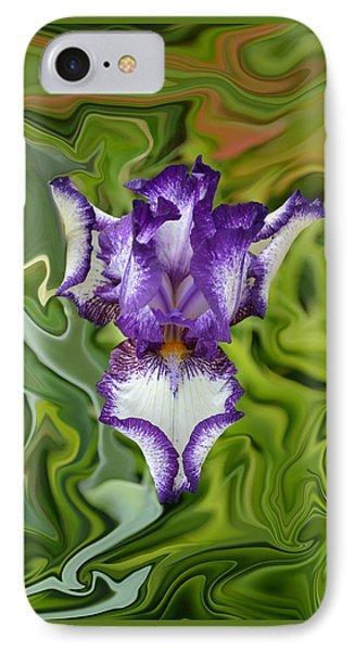 Groovy Purple Iris IPhone Case