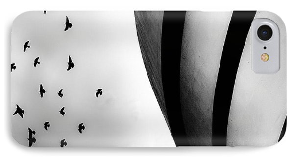 Guggenheim Museum With Pigeons IPhone Case