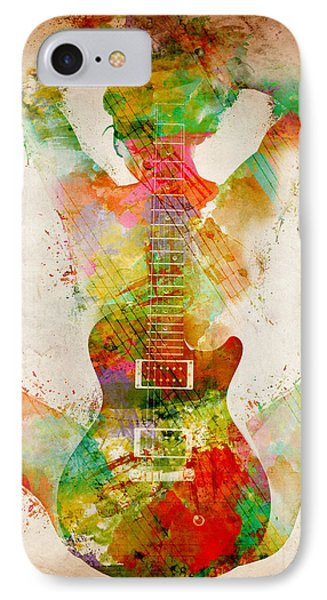 Music iPhone 8 Case - Guitar Siren by Nikki Smith