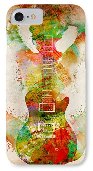 Rock And Roll iPhone 8 Case - Guitar Siren by Nikki Smith