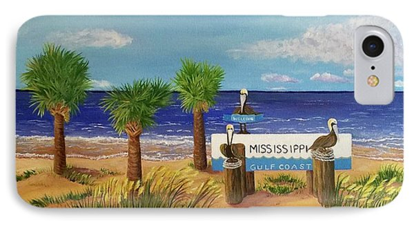 Gulf Shore Welcome IPhone Case