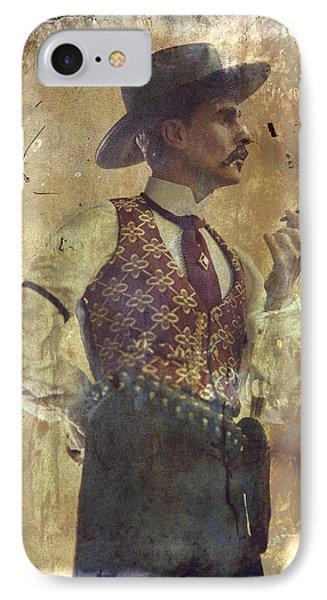Gunslinger IIi Doc Holliday In Fine Attire IPhone Case