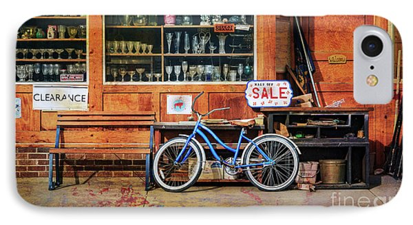 IPhone Case featuring the photograph Half Off Sale Bicycle by Craig J Satterlee