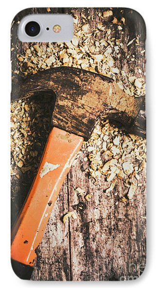 Hammer Details In Carpentry IPhone Case