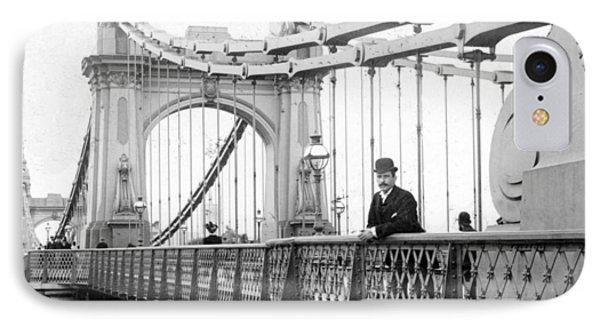 Hammersmith Bridge In London - England - C 1896 IPhone Case