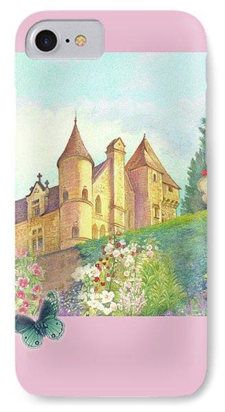 Handpainted Romantic Chateau Summer Garden IPhone Case