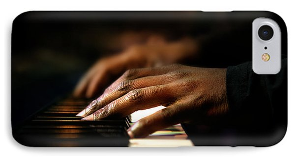 Hands Playing Piano Close-up IPhone Case