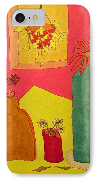 Hanging Plant And 3 On Table IPhone Case