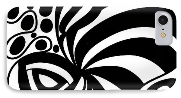 Happy Thanksgiving 2016 Abstract Black And White Art By Omashte IPhone Case
