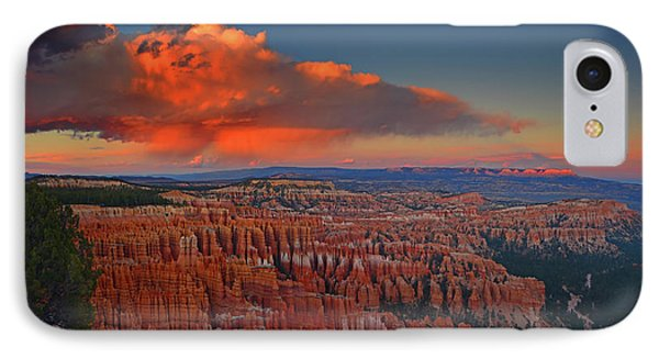 Harvest Moon Over Bryce National Park IPhone Case