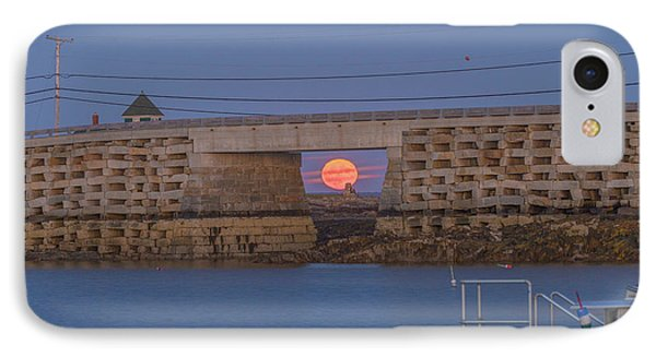 Harvest Moon Over Harpswell IPhone Case