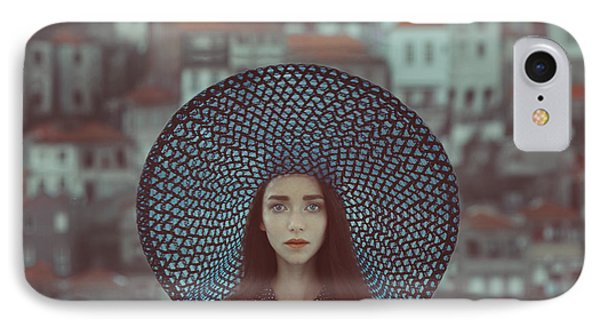 Portraits iPhone 8 Case - Hat And Houses by Anka Zhuravleva