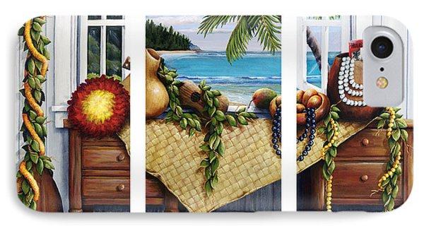 Hawaiian Still Life With Haleiwa On My Mind IPhone Case