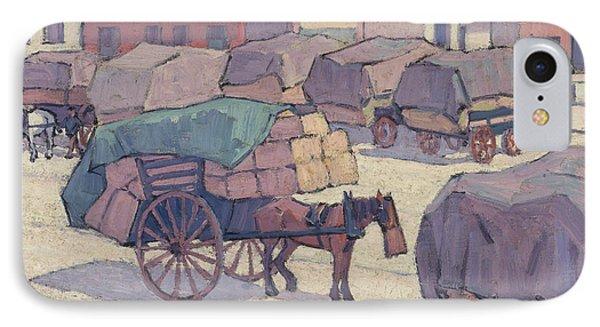 Hay Carts, Cumberland Market IPhone Case