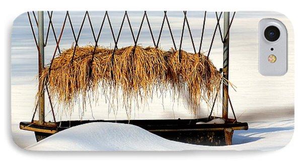 Hay Feeder In Winter IPhone Case
