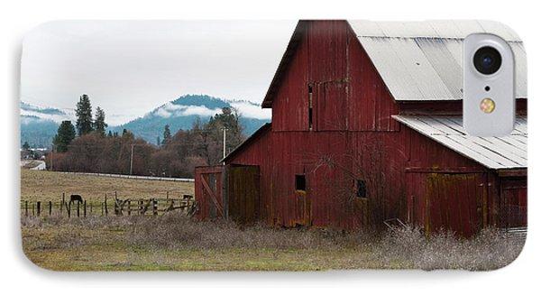 Hayfork Red Barn IPhone Case