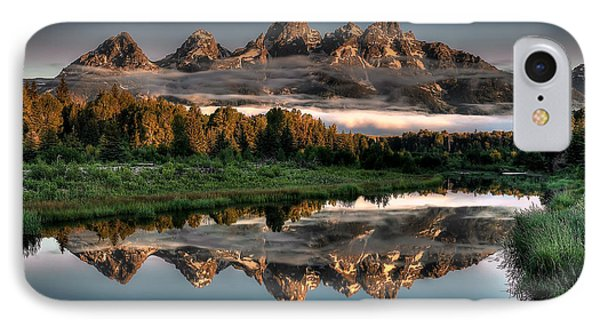 Mountain iPhone 8 Case - Hazy Reflections At Scwabacher Landing by Ryan Smith