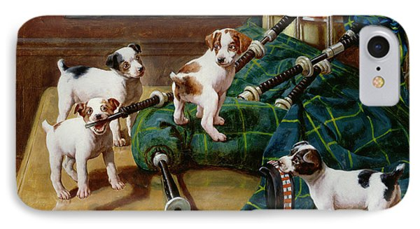 Drum iPhone 8 Case - He Who Pays The Piper Calls The Tune by John Hayes