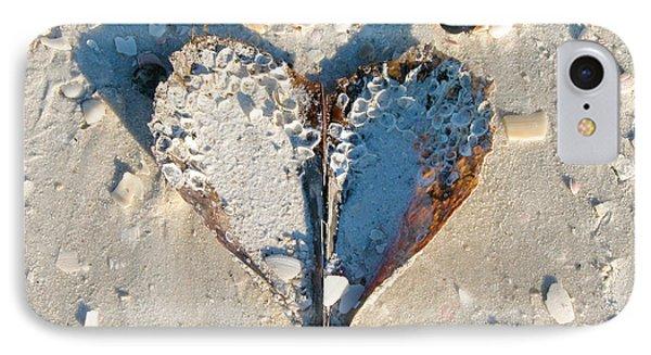 Heart On The Beach IPhone Case
