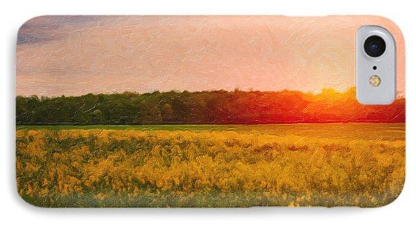 Rural Scenes iPhone 8 Case - Heartland Glow by Tom Mc Nemar
