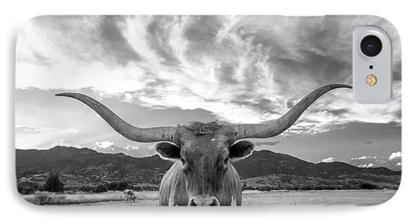 Heber Valley Longhorn IPhone Case