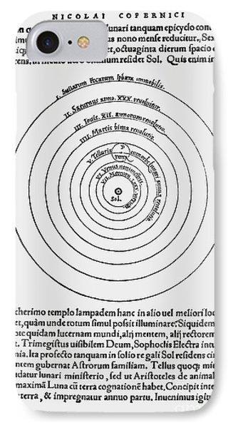 Heliocentric Universe, Copernicus, 1543 IPhone Case