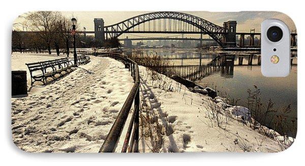 Hellgate Bridge In Winter IPhone Case