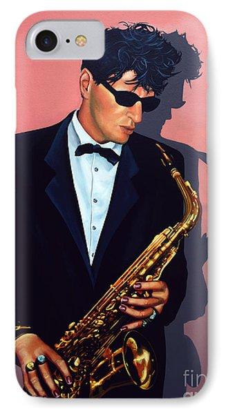 Saxophone iPhone 8 Case - Herman Brood by Paul Meijering