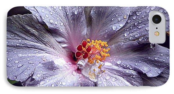 Hibiscus In The Rain IPhone Case