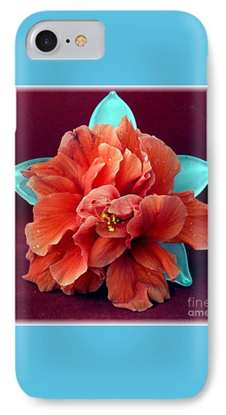 Hibiscus On Glass IPhone Case