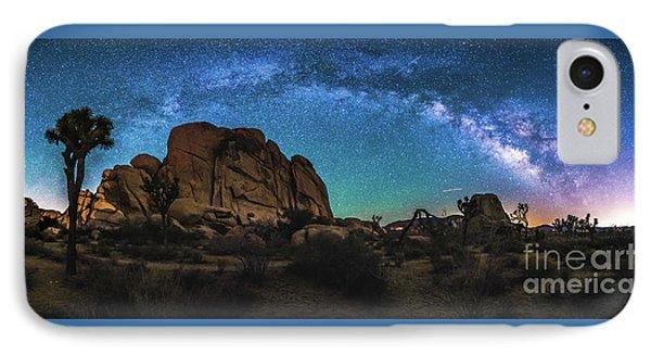 Hidden Valley Milky Way Panorama IPhone Case