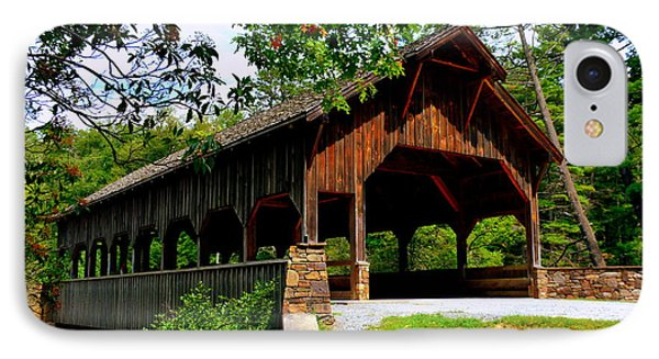 High Falls Covered Bridge IPhone Case