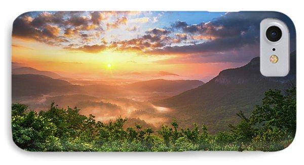 Highlands Sunrise - Whitesides Mountain In Highlands Nc IPhone Case