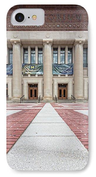 Hill Auditorium U Of M IPhone Case