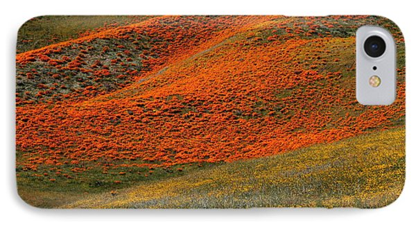 Hills Of Gold And Yellow Near Antelope Valley Poppy Preserve IPhone Case
