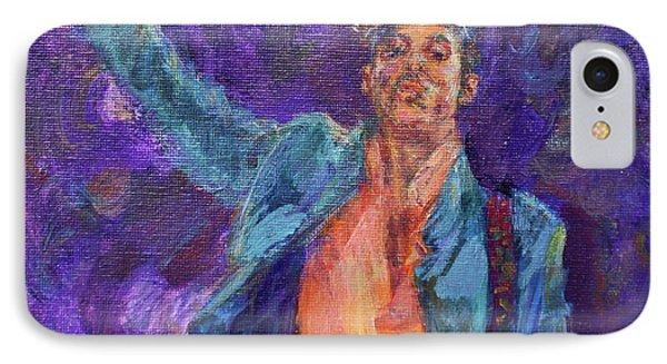 His Purpleness - Prince Tribute Painting - Original Art IPhone Case