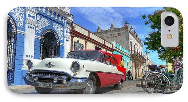 Historic Camaguey Cuba Prints The Cars IPhone Case