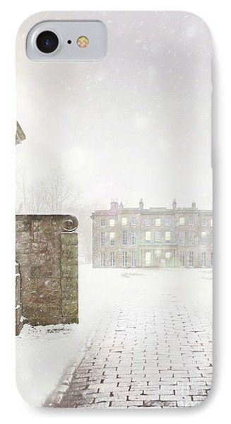 Historic Mansion House In Snow IPhone Case