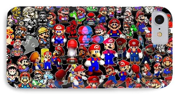 History Of Mario Mosaic IPhone Case