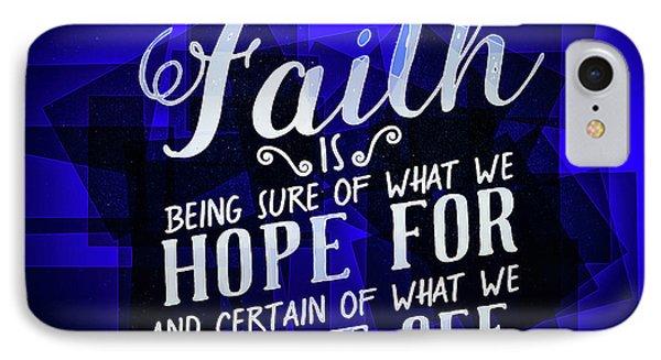 Hisworks Godart Hebrews 11 1 The Truth Bible Art IPhone Case