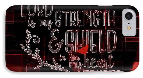 Hisworks Godart 8 Psalm 28 7 The Truth Bible Art IPhone Case