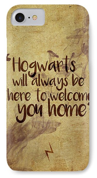 Wizard iPhone 8 Case - Hogwarts Is Home by Samuel Whitton