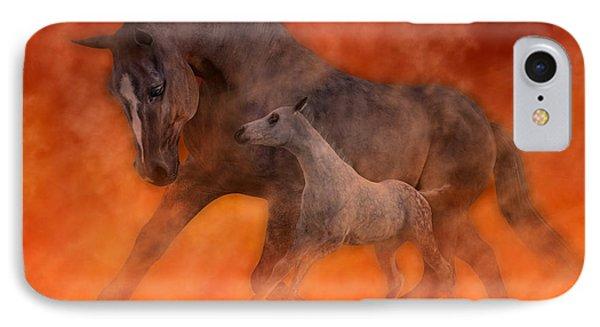 Tribute iPhone 8 Case - Hokie Horses by Betsy Knapp