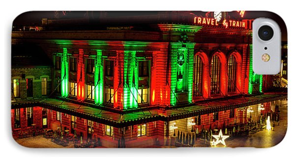 Holiday Lights At Union Station Denver IPhone Case
