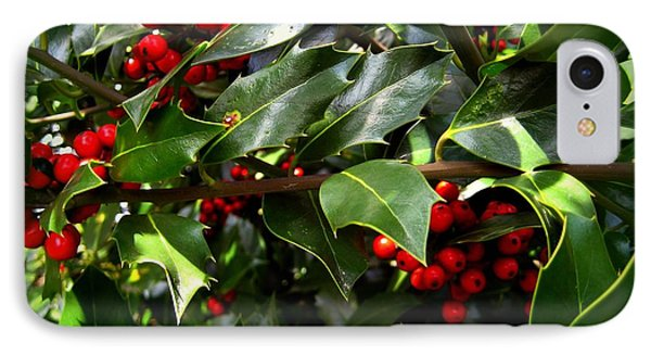Holly Branches IPhone Case