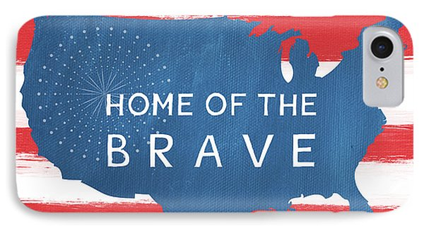 American iPhone 8 Case - Home Of The Brave by Linda Woods